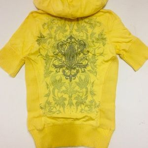 Calvin Klein Yellow Short Sleeve Hoodie